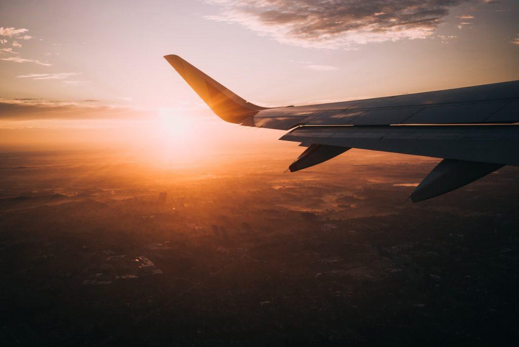 aeroplane sunset