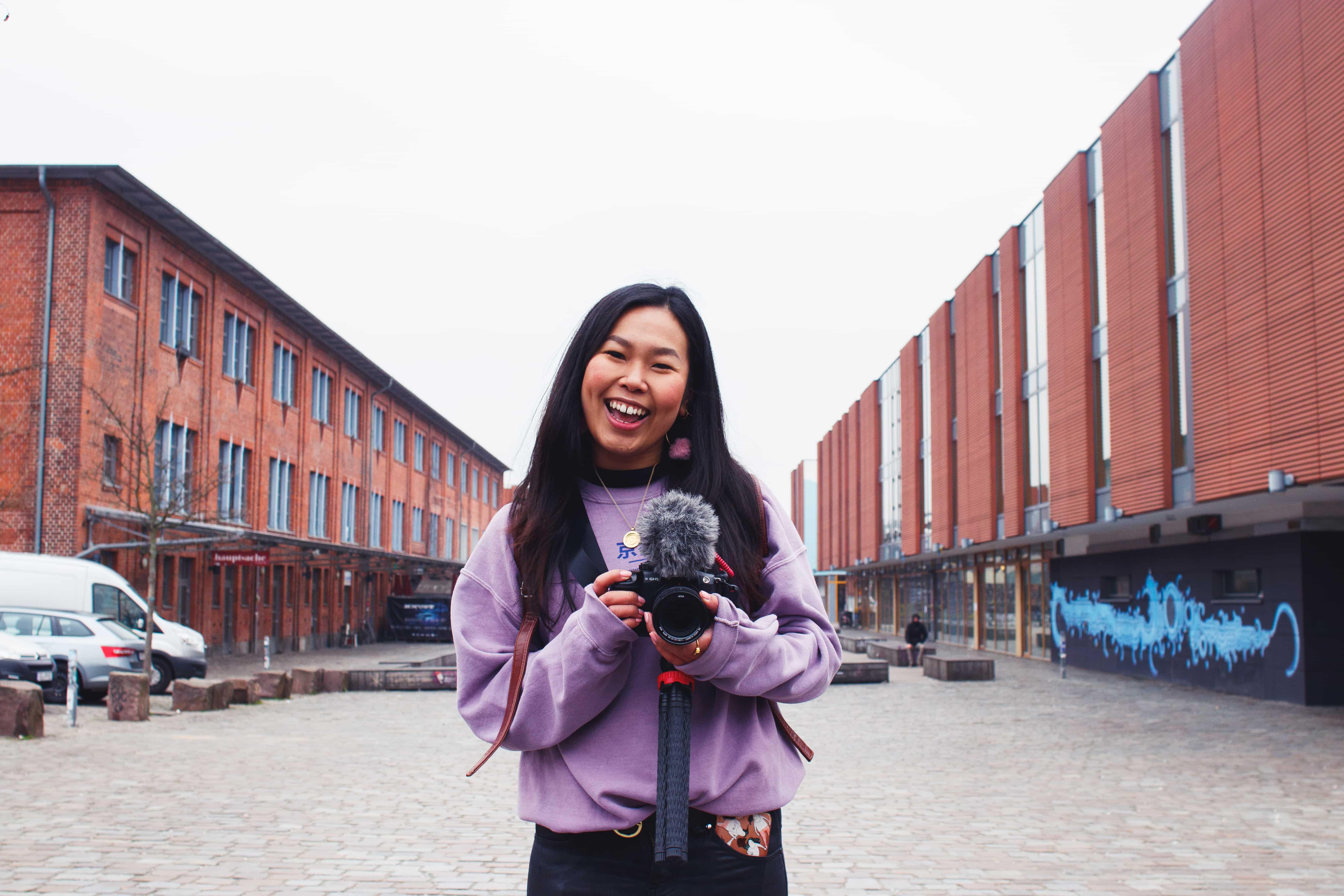 Shu with a camera