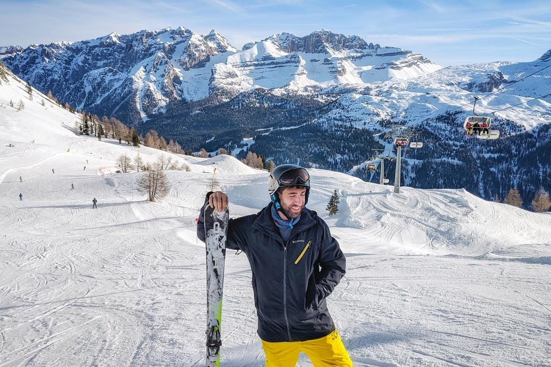 Macca skiing