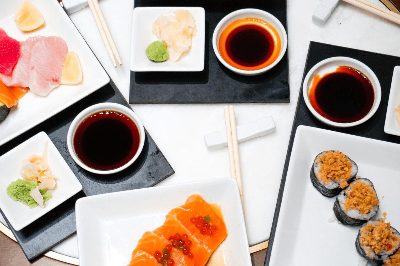 sushi in the Atrium Princess Cruises-min
