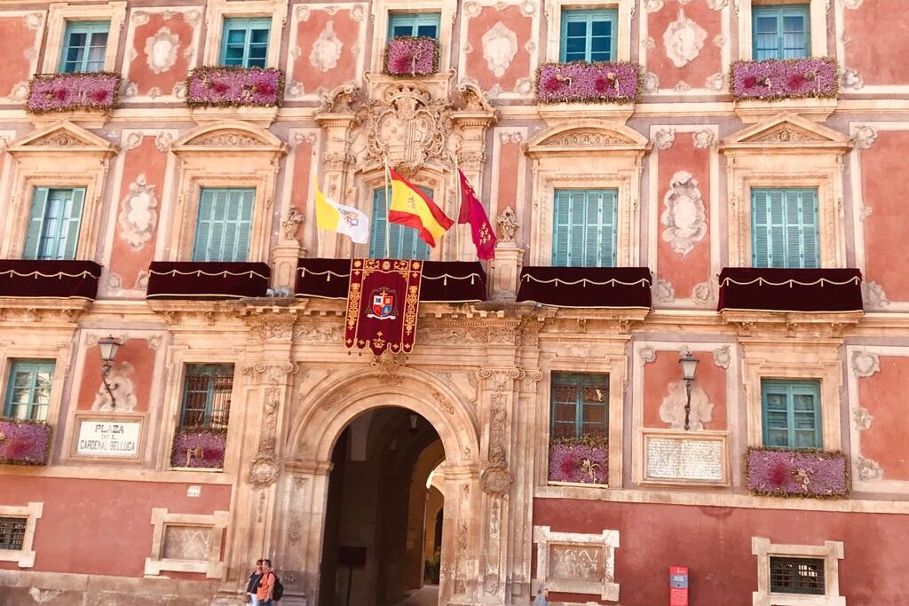 building in the cathedral square Murcia City