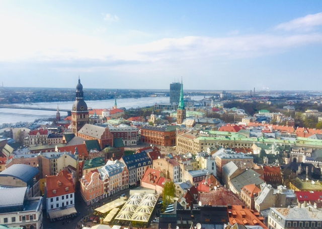 View from St Peter's church in Latvia