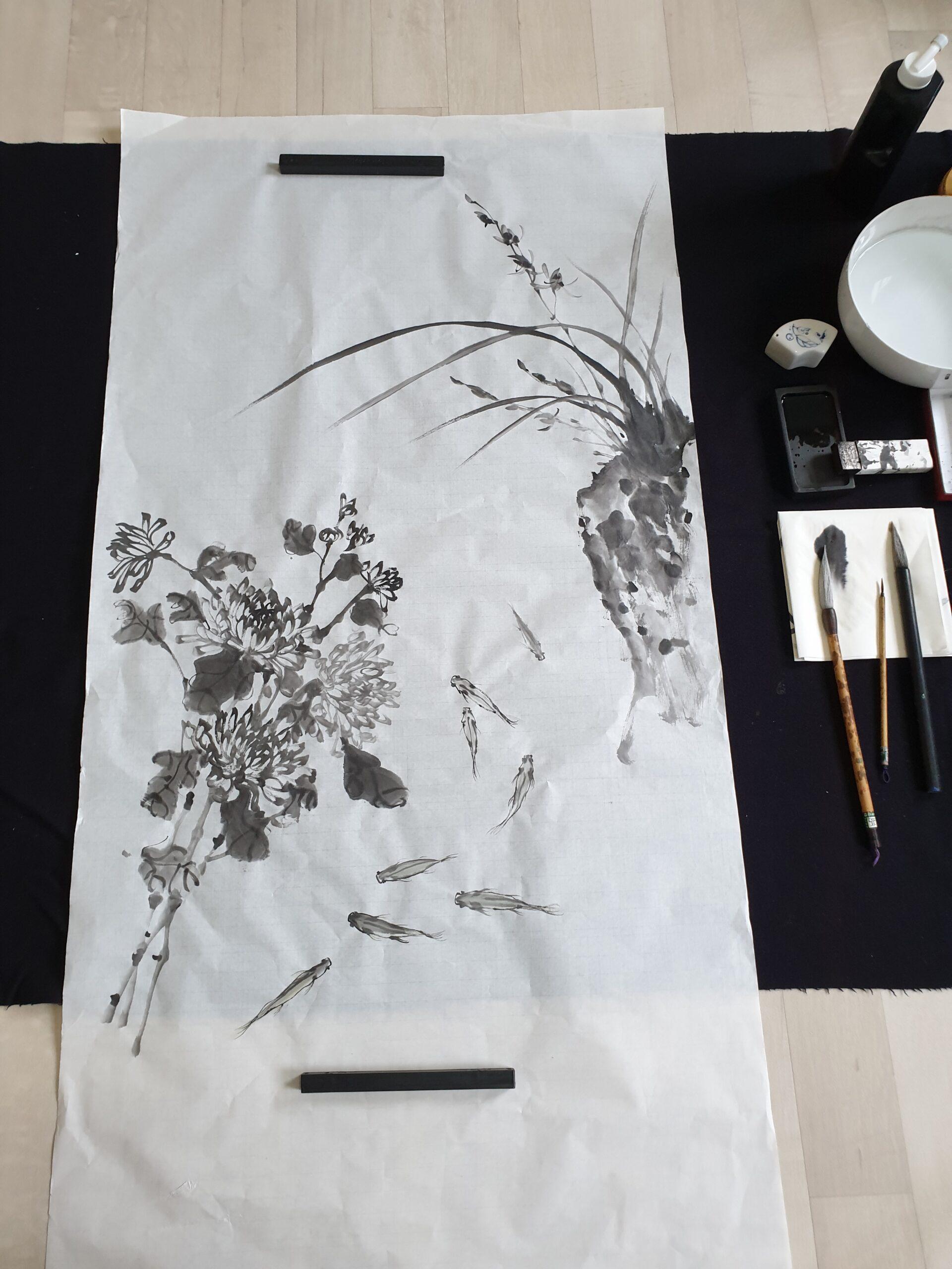 Korean ink painting