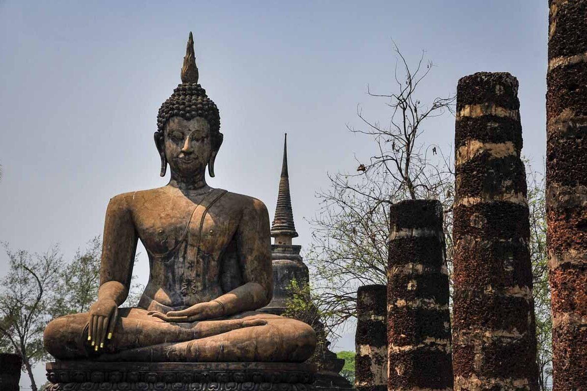 wat mahatat sukhothai close up