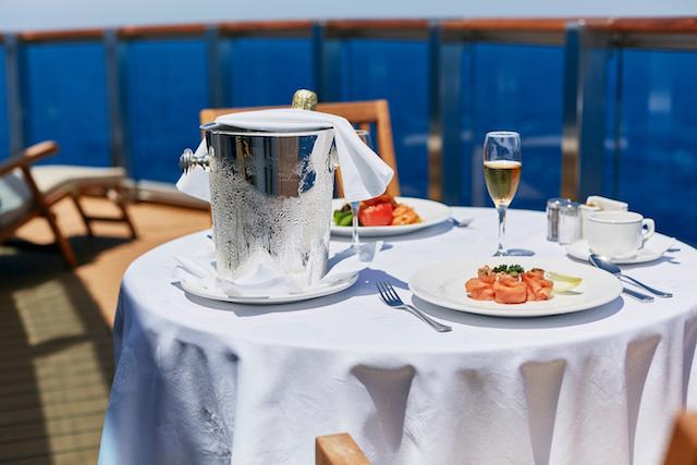Balcony Dining on board Princess Cruises