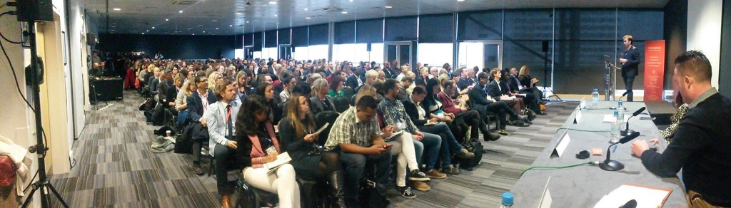 A packed house to hear Ian Cumming speak at one of the Traverse seminars at WTM