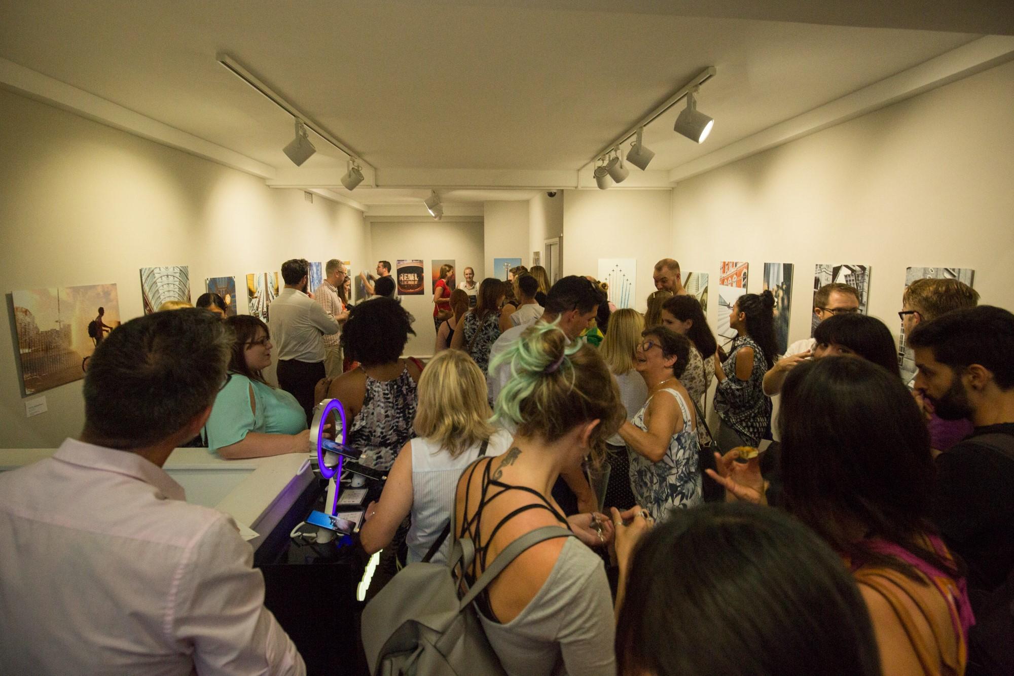 Samsung Three Gallery event upstairs